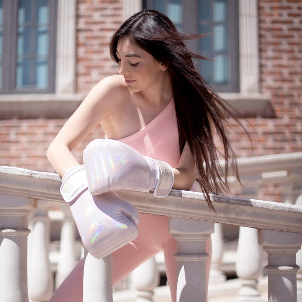 guantes con modelo