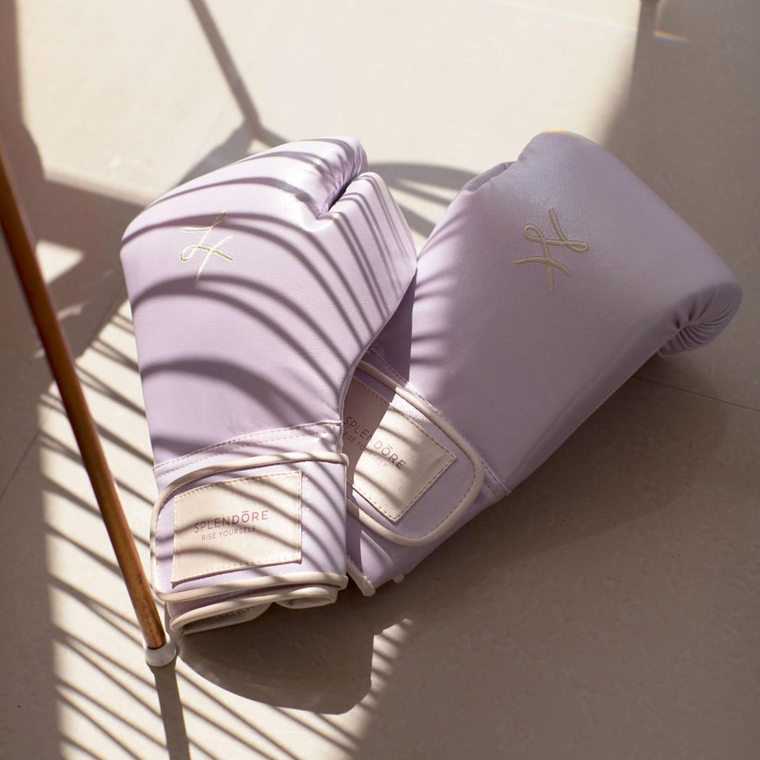 guantes violeta Splendore